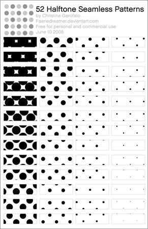 52_Halftone_Patterns_by_Faeriedreamer