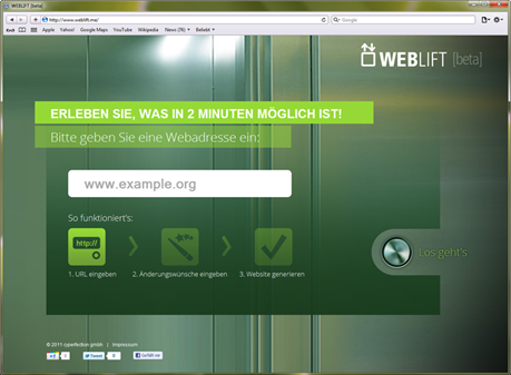 Weblift_Screenshot