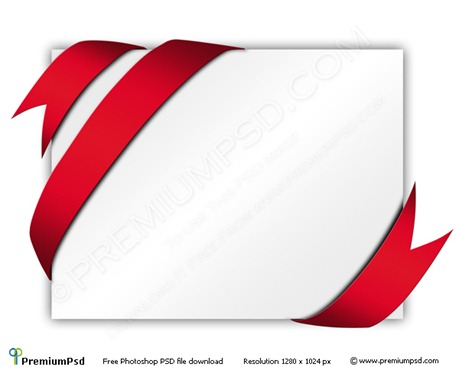 Red-Ribbon-Around-Blank-White-Paper