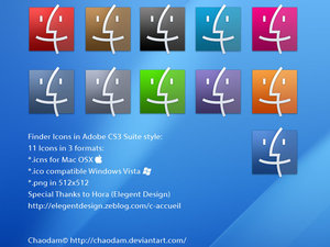 Finder Icons in CS3 Beta Style by chaodam