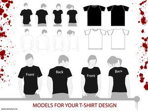 T_Shirt_Models_by_APEstar