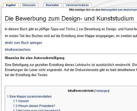 wikibooks_bewerbungzumdesignundkunststudium