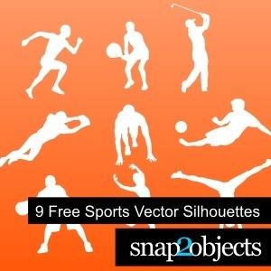 9FreeSportsVectorSilhouettes
